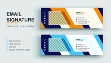 Email Signature Or Email Footer And Personal Social Media Cover Design Template