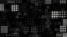 Abstract Grid Zoom Effect Background. Motion Graphic 4K Flying Particle.