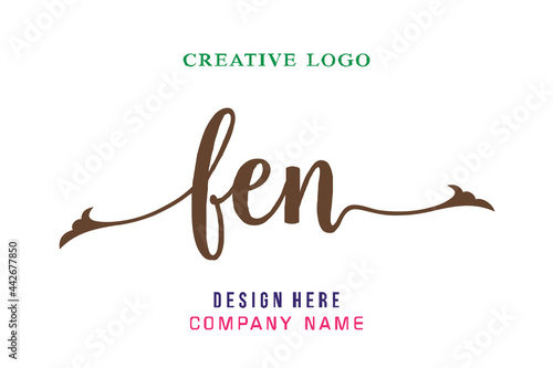 Obraz na plátně FEN lettering logo is simple, easy to understand and authoritative