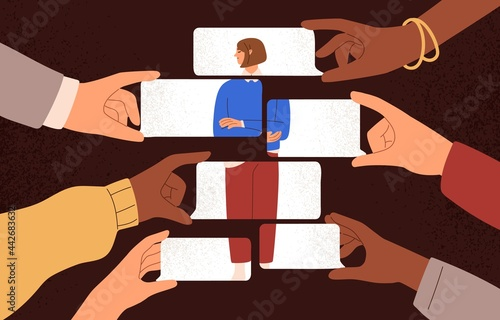 Fotografia, Obraz Psychological concept of public opinion dependence