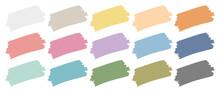 Set Fünfzehn Pinselstriche Retrofarben