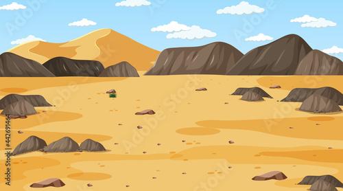 Tablou Canvas Desert forest landscape at daytime scene