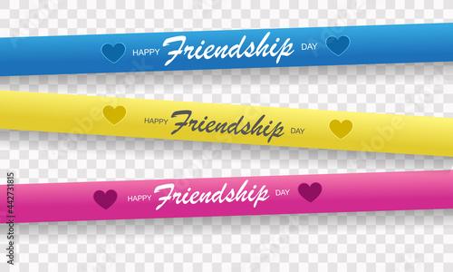Fotografie, Obraz Happy friendship day poster