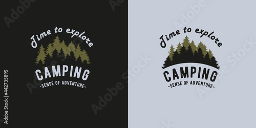Canvas Print Camping for forest travel print