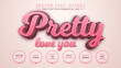Pretty - edit text effect, font style