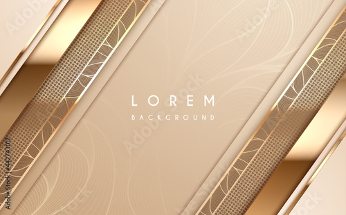 Foto Abstract soft gold luxury background