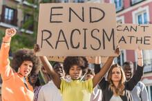Black Woman Protesting During Black Lives Matter Demonstration