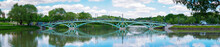 Left-bank Bridge Over The Pond In The Tsaritsyno Museum-Reserve - Panorama