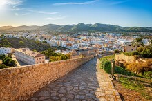 View Of The Old Town Of Ibiza, Spain