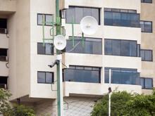 Satellite Dish And Building