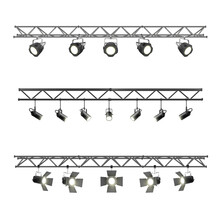 Realistic Lighting Metal Beam With Spotlights Equipment For Studio And Exhibition Pavilion Stage Lightin