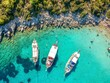 Boote vor der Insel Orak in Bodrum