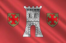Flag Of Larochette In Luxembourg