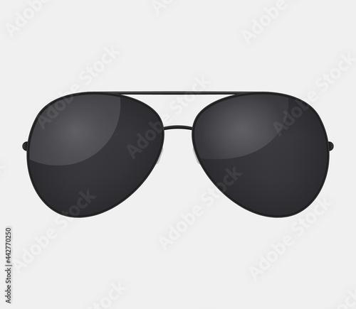 Fotografia, Obraz Aviator police isolated sunglasses .