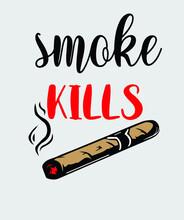 Smoke Kills Vector T-shirt Design