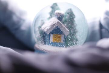 christmas decoration on the snow