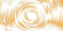 Orange Circular Halftone Background