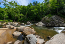 Elk River In The Pisgah National Forest In North Carolina, USA