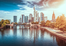 Frankfurt Am Main Panorama Skyline.