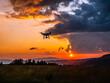 Zachód słońca, dron