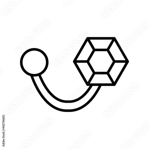 Fotografie, Obraz Brooch Vector Line Icon Design