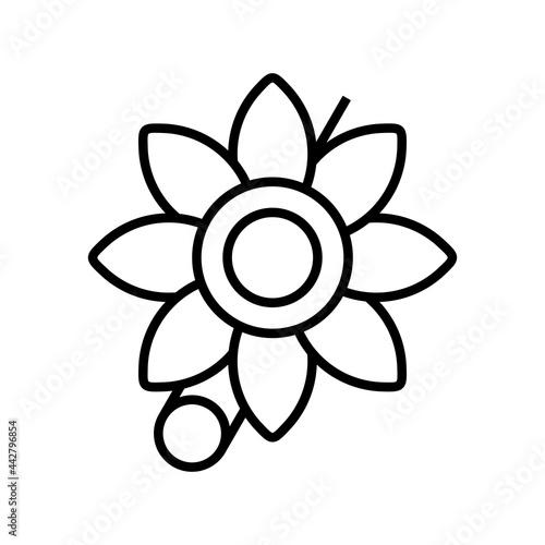 Fototapeta Brooch Vector Line Icon Design