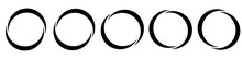 Circle, Semicircle Icon, Symbol. Circular Frame, Border