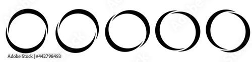 Obraz na plátně Circle, semicircle icon, symbol. Circular frame, border