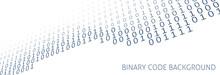 Binary Code Digital Banner. Vector Graphics