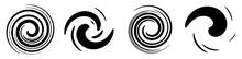 Abstract Spiral, Swirl, Twirl Design Element. Curlicue, Rotating Shape. Volute, Vortex, Helix Element