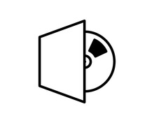 Compact Disk, Blu-ray, CD Or DVD. Flat Vector Icon Illustration. Simple Black Symbol On White Background. Compact Disk, Blu-ray, CD Or DVD Sign Design Template For Web And Mobile UI Element.