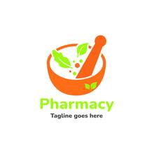 Pharmacy Medical Logo Icon Vector, Nature Logo Ison Template