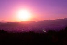 富士山 サンセット 10月