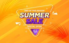 End Of Season Summer Sale Gradient Banner