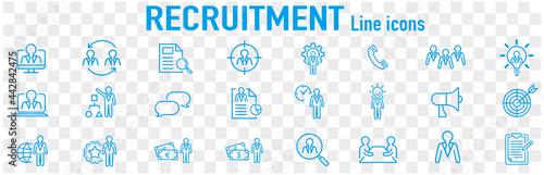 Set of recruitment vector Outline Fototapet