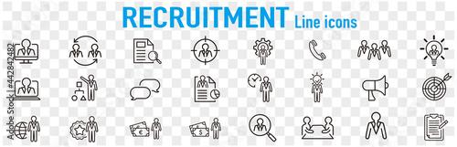 Fotografie, Obraz Set of recruitment vector Outline