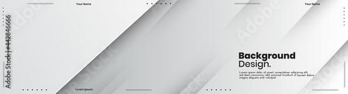 Fotografiet Abstract banner design web templates, horizontal header web banner