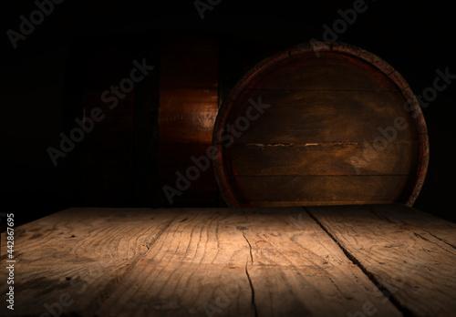 Fotografia Barrels in the wine cellar, Porto, Portugal