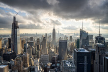 Manhattan Skyline In New York City, USA