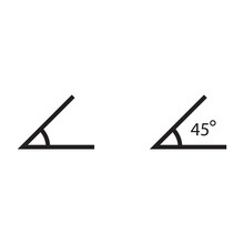 Angle Of 45 Degrees Icon