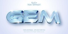 Gem Text, Shiny Diamond Textured Style Editable Text Effect