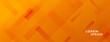 elegant orange abstract wide banner design