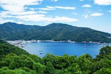 土肥港の全景(西伊豆、静岡県)|出逢い岬からの眺望は素晴らしかった
