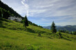 Blick auf die Hohe Tauern und die Gaudeamushütte im Wilder Kaiser