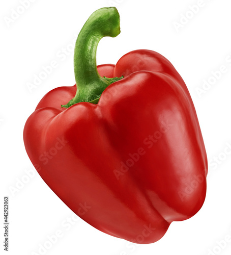 Fotografia Red sweet bell pepper isolated on white background