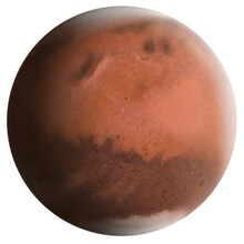 The Planet Mars Drawing Isolated