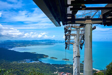 View From A Cable Car Ride High Into The Mountains On The Tropical Island Of Langkawi. Incredible Natural Landscape