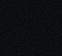 Leopard Print, Vector Pattern, Black Background For Printing Clothes, Paper, Fabric.
