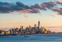 Lower Manhattan Skyline With One World Trade Center, New York City, USA