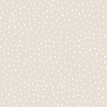 Vector Abstract Cute Hand Drawn Seamless Pattern With A Irregular Dots On A Beige Background. Pastel Baby Texture Ideal For Fabric, Wallpaper, Wrapping Paper, Card, Layout. Delicate Children's Print.